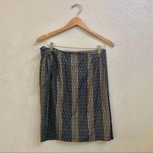 INC tie wrap silk skirt